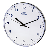 12 H Battery Operated Wall Clock OP237 | Ottawa Fastener Supply